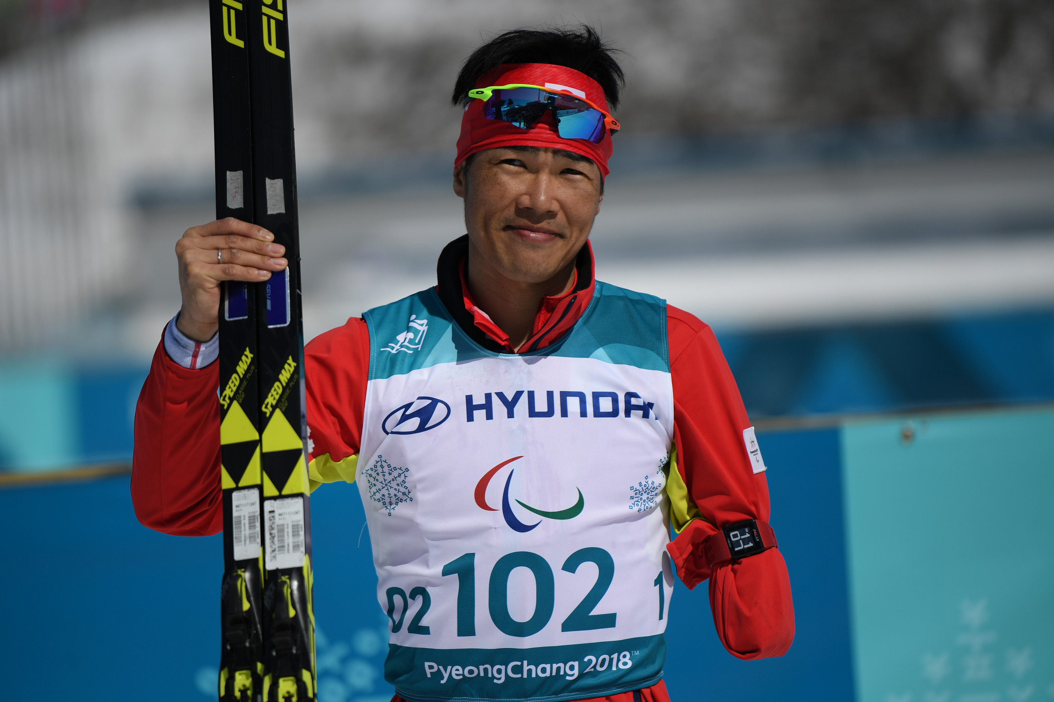 Yoshihiro Nitta won back the men's 10km standing title he originally won at Vancouver 2010 ©Getty Images