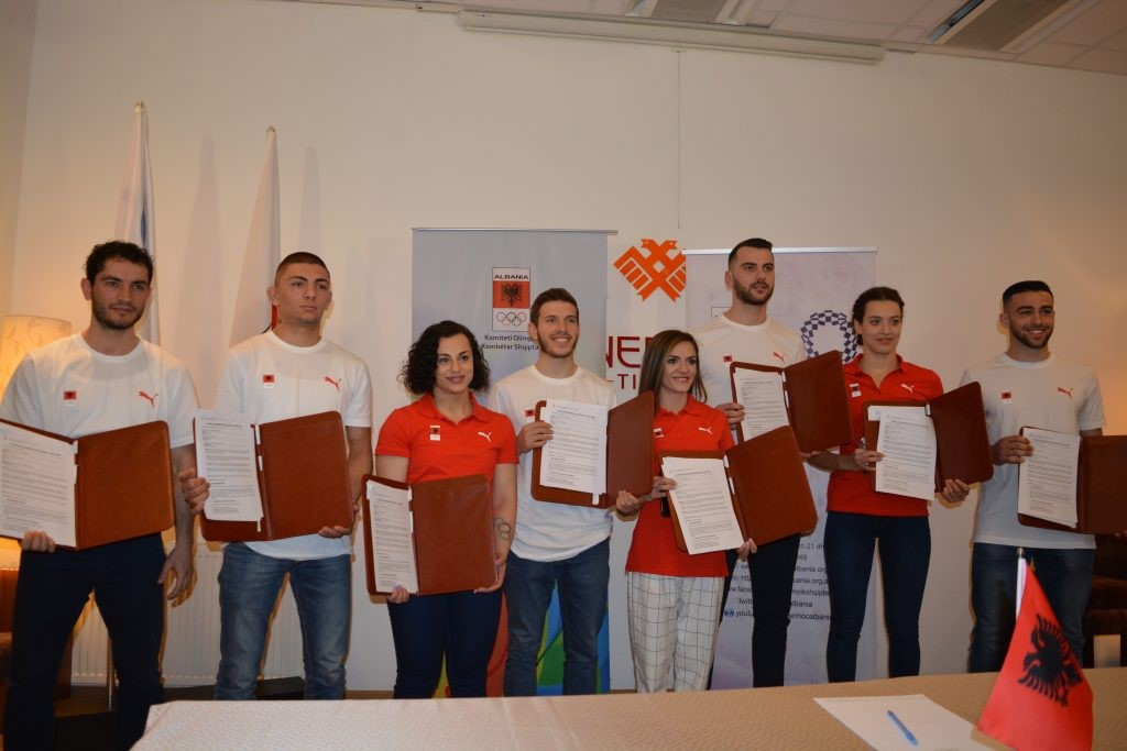 National Olympic Committee of Albania award eight athletes Tokyo 2020 scholarships