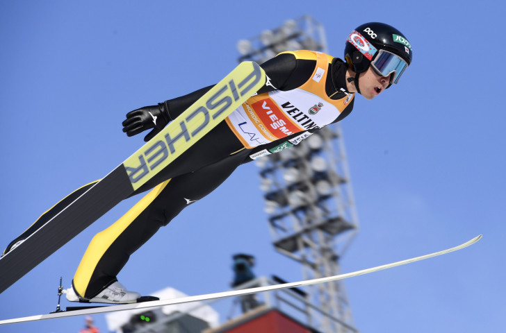 Third place in today's Nordic Combined at Klingenthal in Germany kept Japan's Akito Watabe top of the World Cup standings ©Getty Images