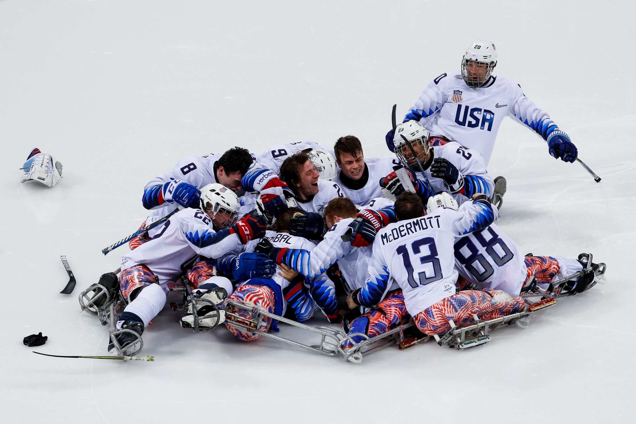 The United States produced a miraculous comeback to beat Canada and claim the Pyeongchang 2018 Para-ice hockey title today ©Getty Images
