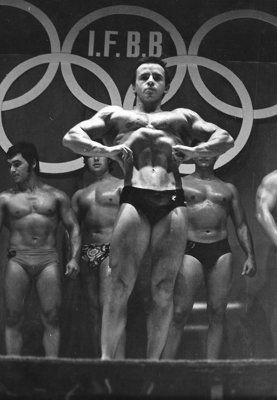 IFBB President Santonja pictured in the1970s during his time as an actively competing bodybuilder ©IFBB