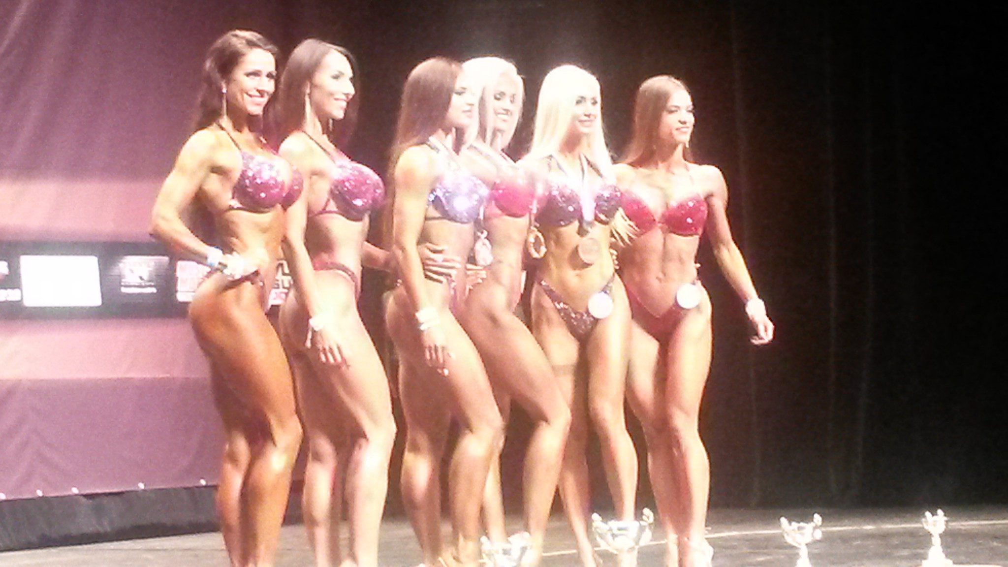 Category winners at last December's IFBB World Fitness Championships in Biarritz ©ITG