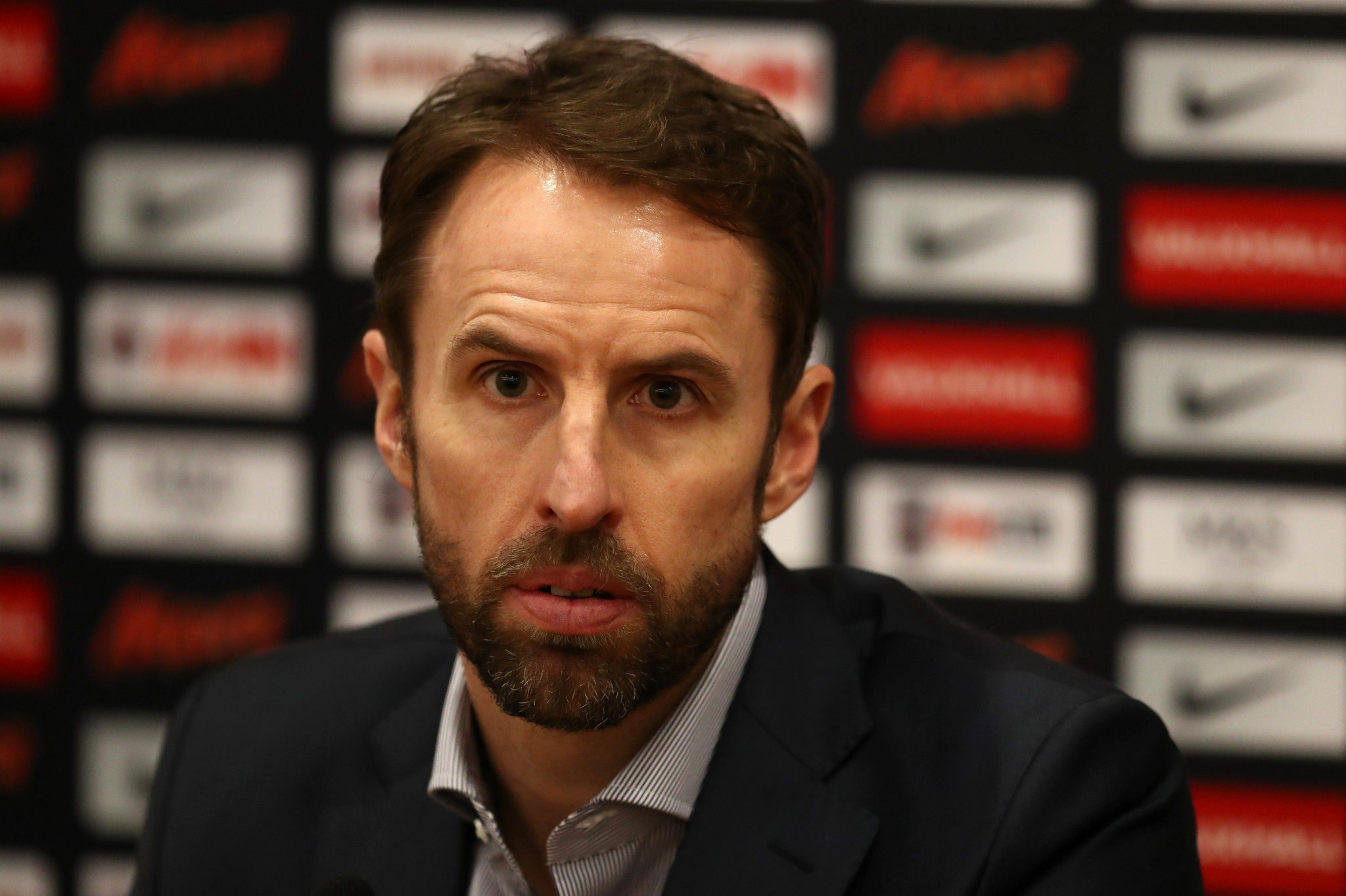England manager Gareth Southgate claimed last week that the national team were preparing to compete at the World Cup and there were no plans to boycott despite the current political situation between Britain and Russia ©Getty Images