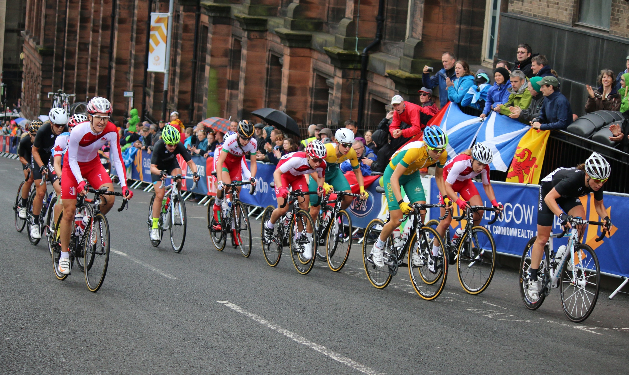 Cyclists competing at the Glasgow 2014 Commonwealth Games ©Getty Images