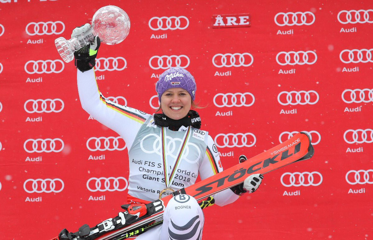 Rebensburg takes third FIS Alpine Ski World Cup overall giant slalom title as high winds cancel final race
