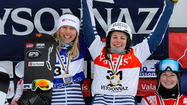 France and Italy claim women's and men's overall FIS World Cup Team Snowboard titles in Veysonnaz