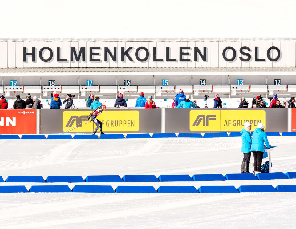 Holmenkollen, in Oslo, has been a happy hunting ground over the years for Darya Domracheva from Belarus, who earned her fourth IBU World Cup victory there today ©IBU