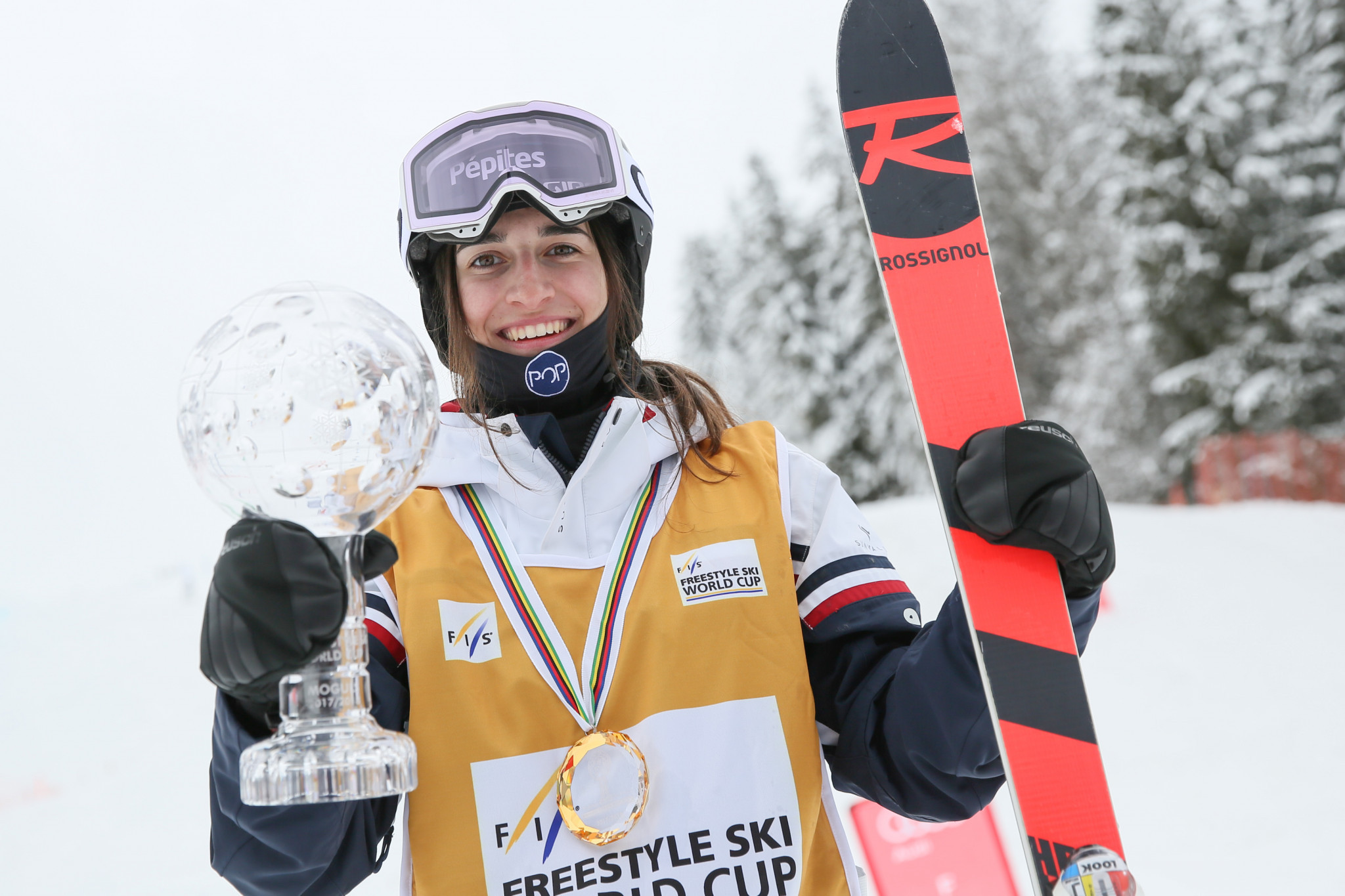 France's Perrine Laffont earned the women's moguls World Cup title ©Getty Images