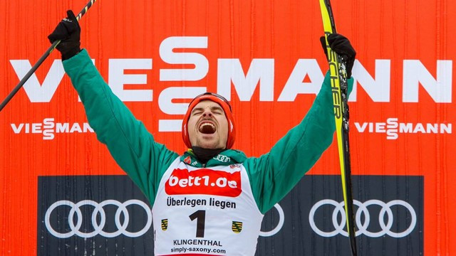 Three wins in a row for Rießle as Watabe seals overall FIS Nordic Combined World Cup title at Klingenthal