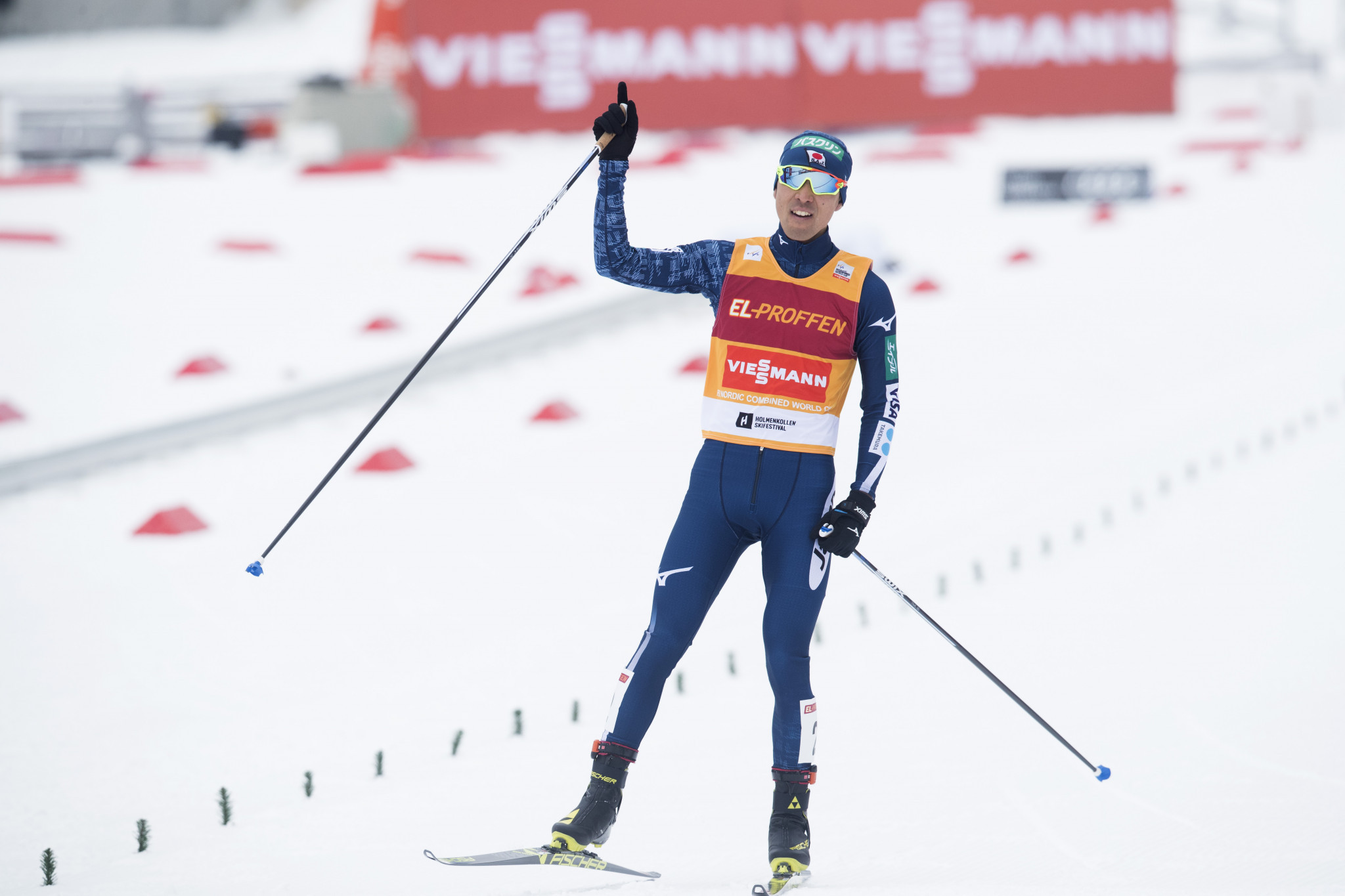 Third place in Klingenthal today earned Japan's Akito Watabe the overall FIS Nordic Combined World Cup title ©Getty Images
