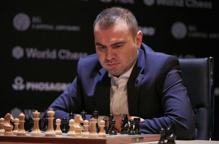 Shakhriyar Mamedyarov of Azerbaijan has dropped off the joint lead in the FIDE Challengers Tournament after drawing his match in Berlin today ©Getty Images