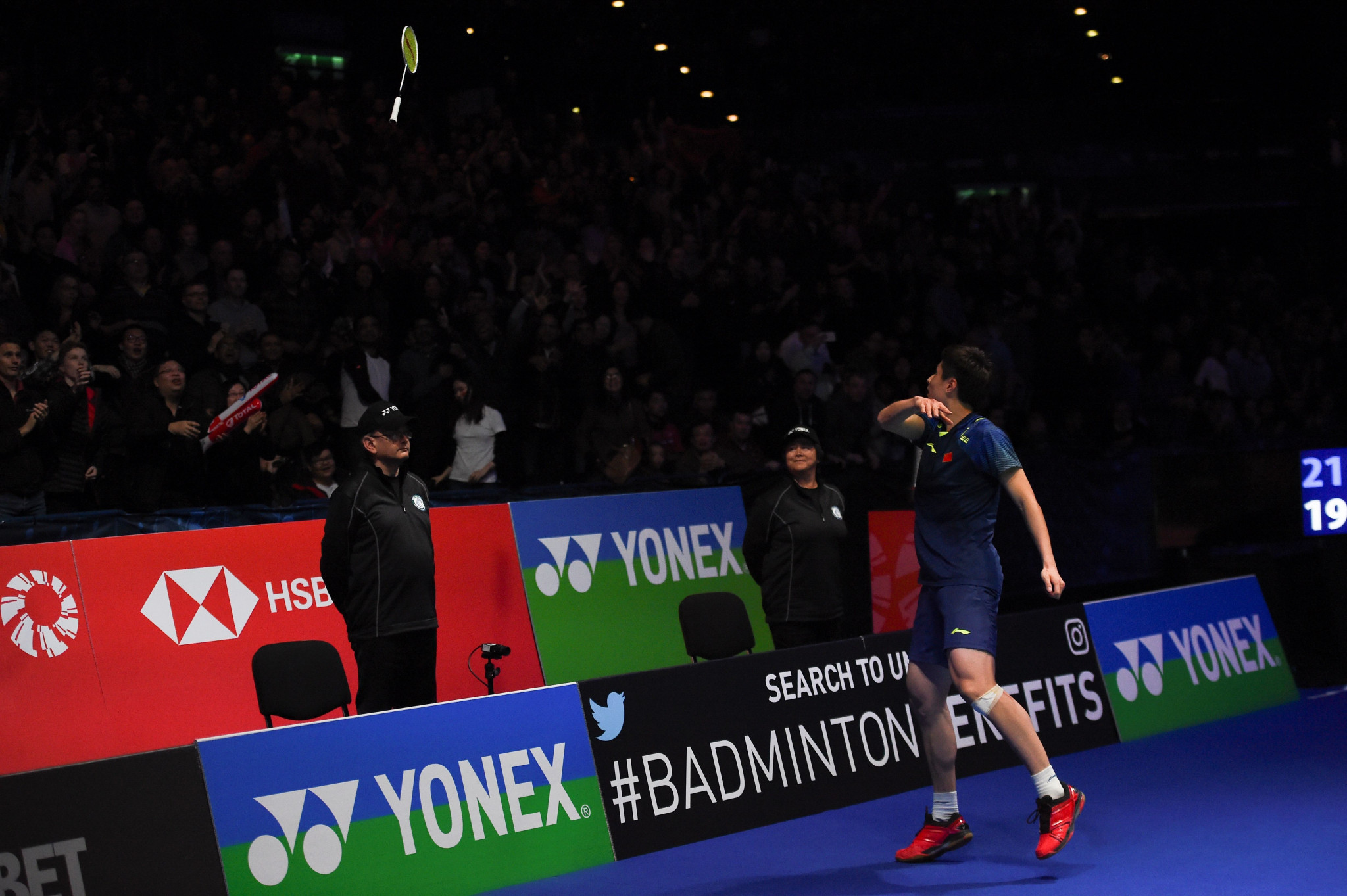 Shi clinches men's singles crown at All England Open as Tai retains women's title