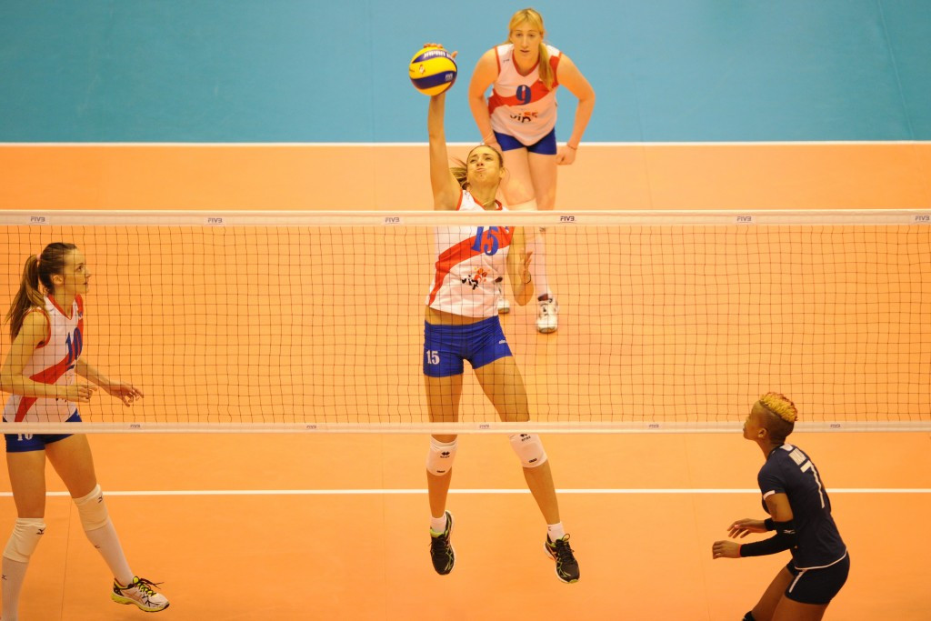Serbia also remained in contention for the title after beating Kenya in straight sets