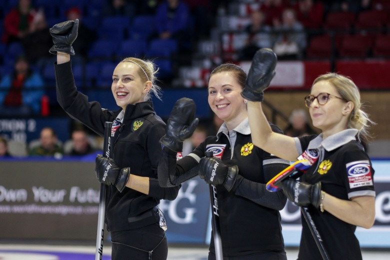 Russia are one of four teams with three wins to their name ©World Curling