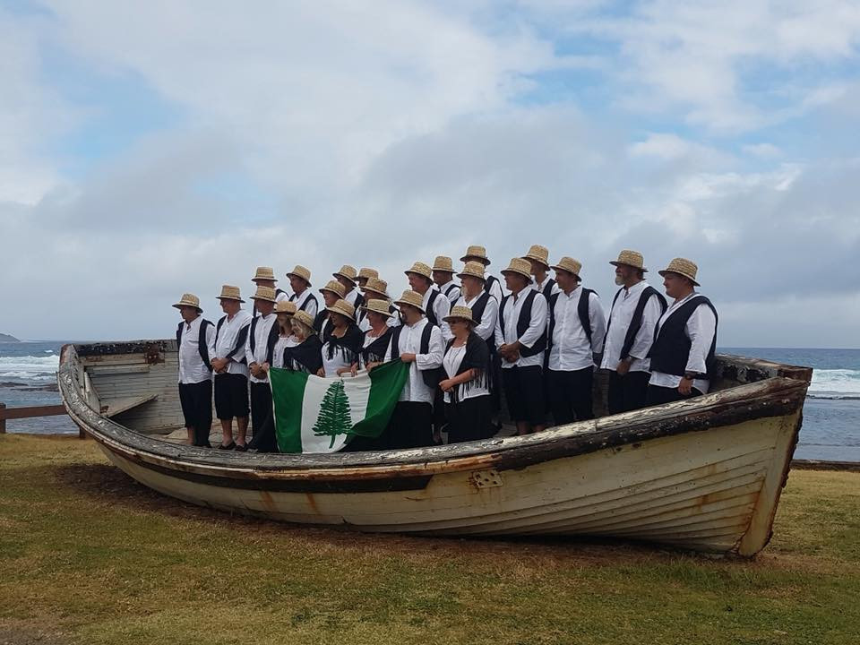 Norfolk Island's delegation for Gold Coast 2018 ©NICGA
