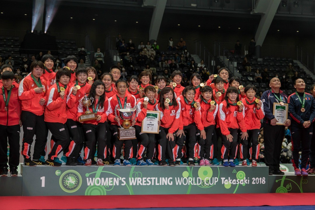 Hosts Japan win Women's Wrestling World Cup for fourth time in a row