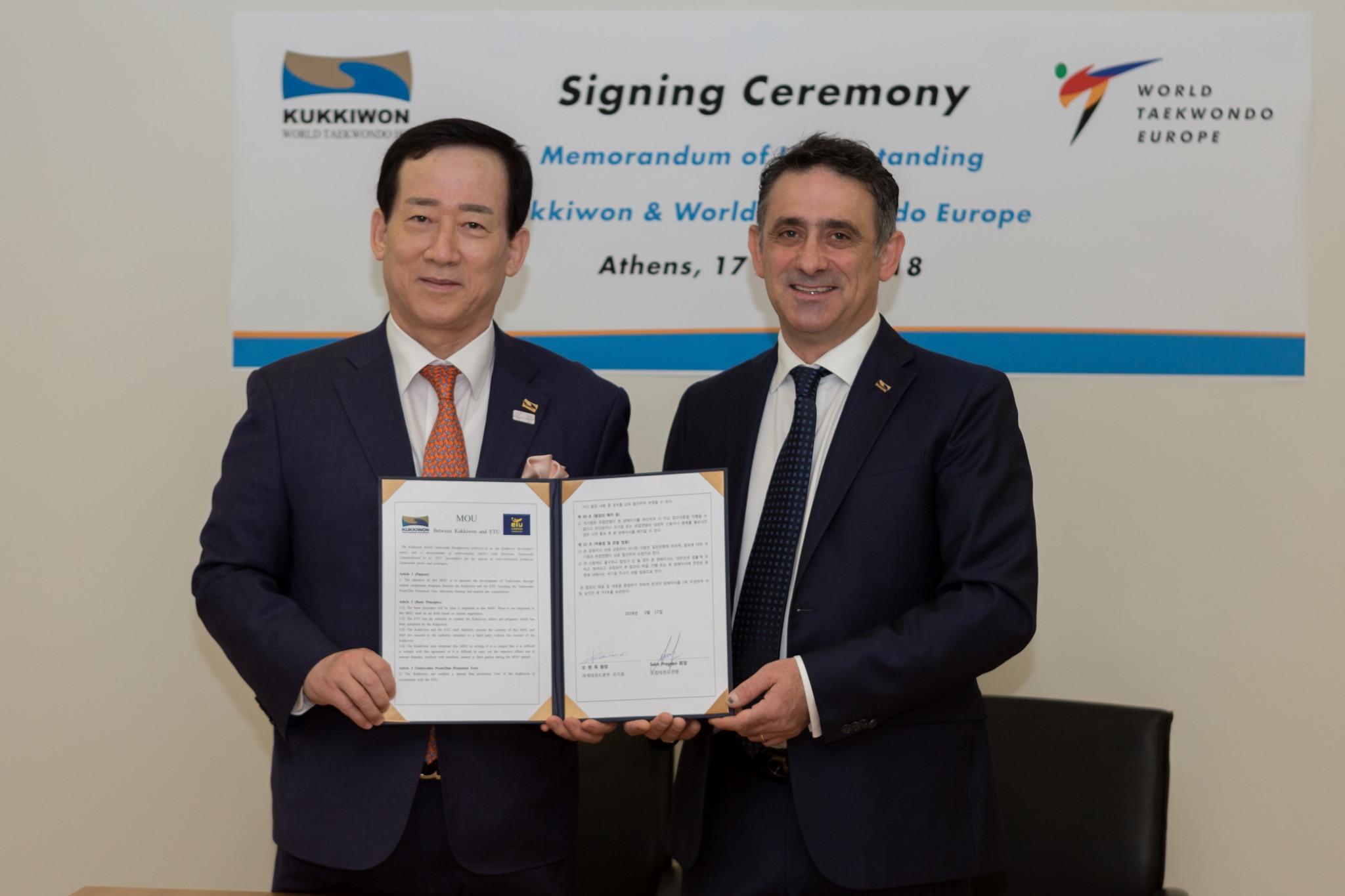 World Taekwondo Europe sign deal with Kukkiwon