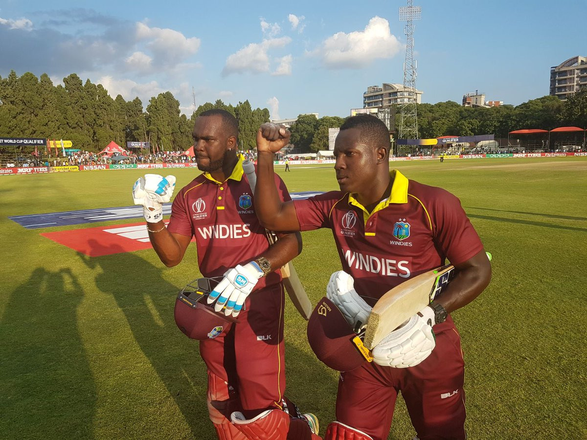 West Indies defeat Zimbabwe to replace them at top of Cricket World Cup qualifier