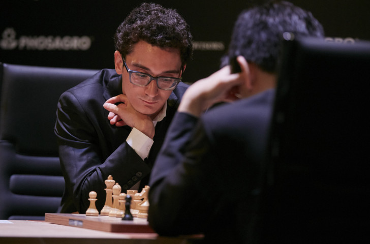 Fabiano Caruana is half a point ahead as the FIDE Candidates Tournament moves into its second half in Berlin ©Getty Images