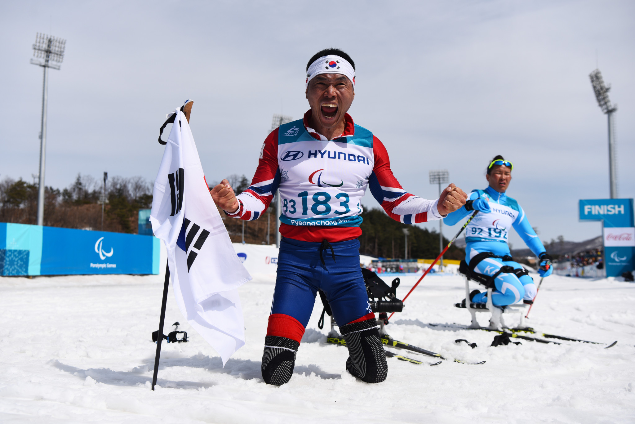 Cross-country skier Sin Eui-hyun became South Korea's first Winter Paralympic Games gold medallist at Pyeongchang 2018 ©Getty Images