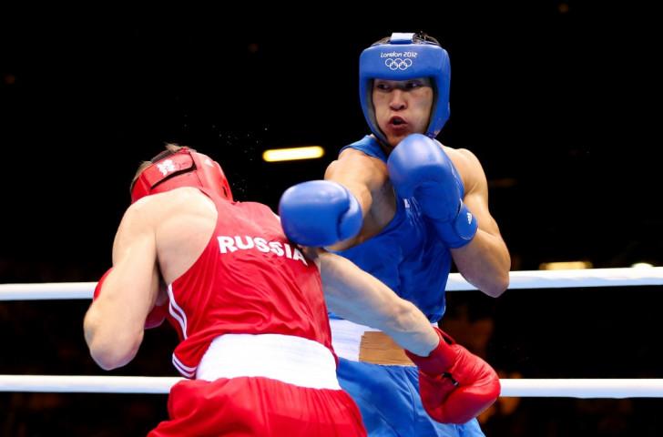 London 2012 silver medallist Adilbek Niyazymbetov was one of Kazakhstan's five gold medallists, taking top honours at light heavyweight