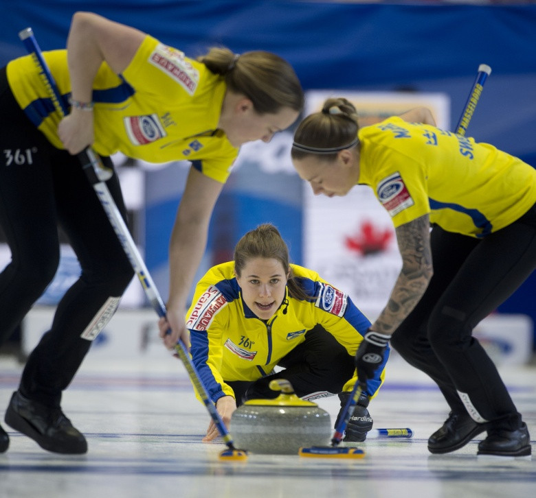 Sweden remain unbeaten in North Bay after recording their fifth win ©WCF