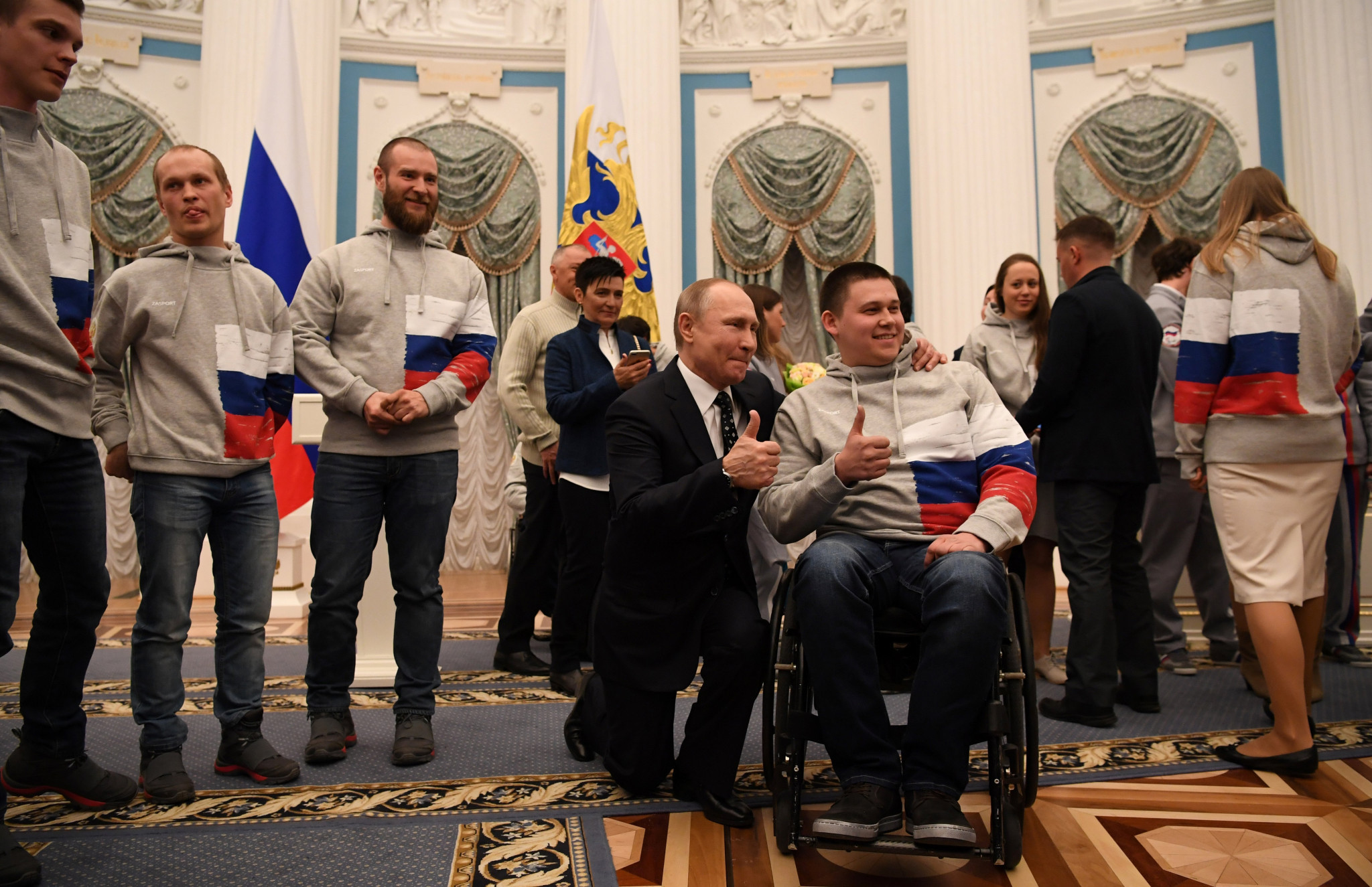 Putin holds reception for Pyeongchang 2018 Paralympic participants