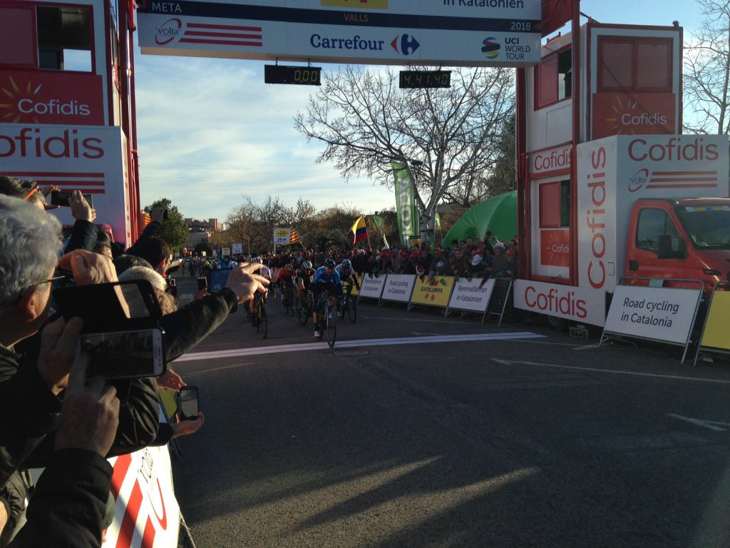 Valverde claims victory on second stage of Volta Ciclista a Catalunya