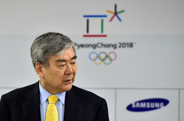 Pyeongchang 2018 President Cho Yang-ho presented their Olympic Truce Programme at the IOTF Executive Board meeting in Lausanne ©Getty Images