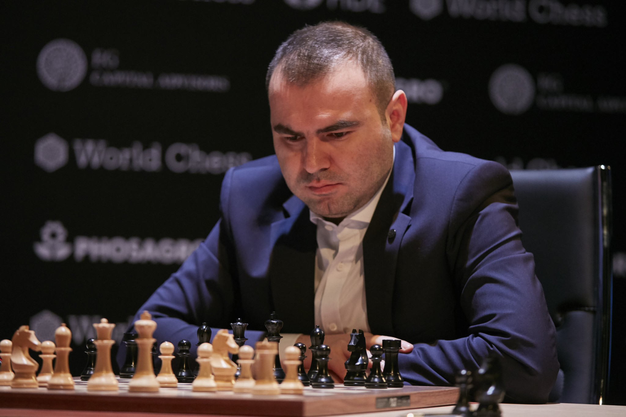 Shakhriyar Mamedyarov drew for the second straight match ©Getty Images