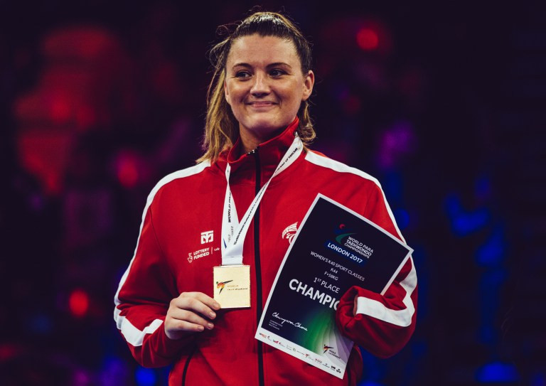 Para-taekwondo world champion looks forward to first IWAS Women's World Games