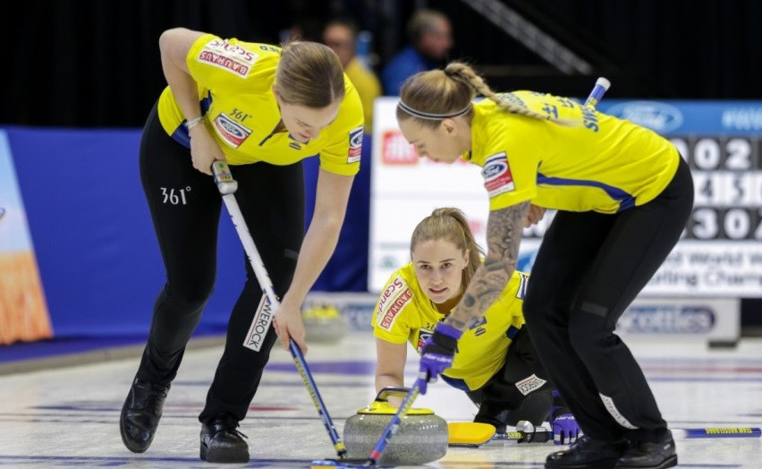 Sweden continue to set pace with seventh straight win at World Women's Curling Championships