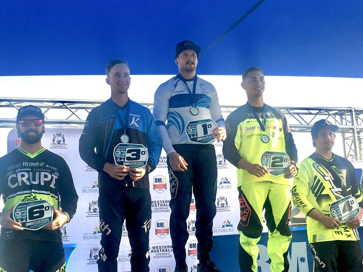 Corey Frieswyk triumphed in the men's elite competition ©Oceania Cycling