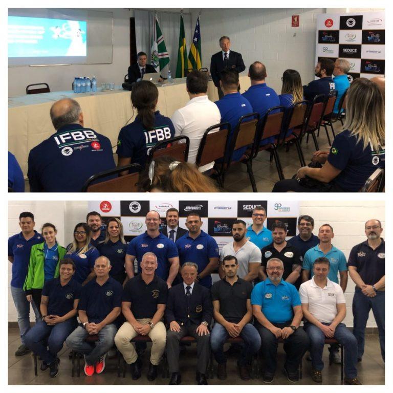 Rafael Santonja attended the Pro-Am Open in Goiania ©IFBB