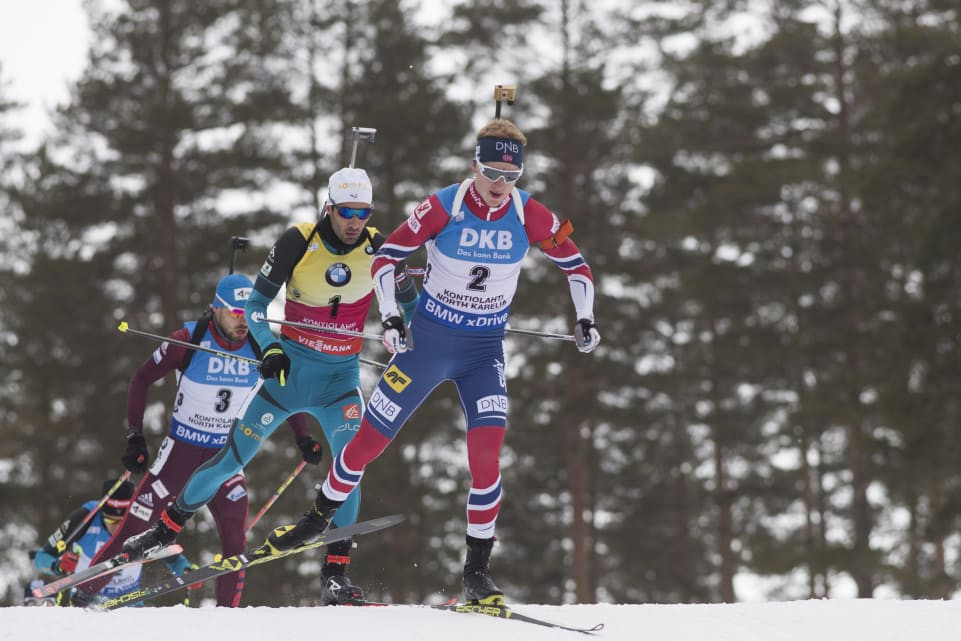 Johannes Thingnes Bø is aiming to snatch the overall men's title at the season-ending event in Tyumen ©IBU