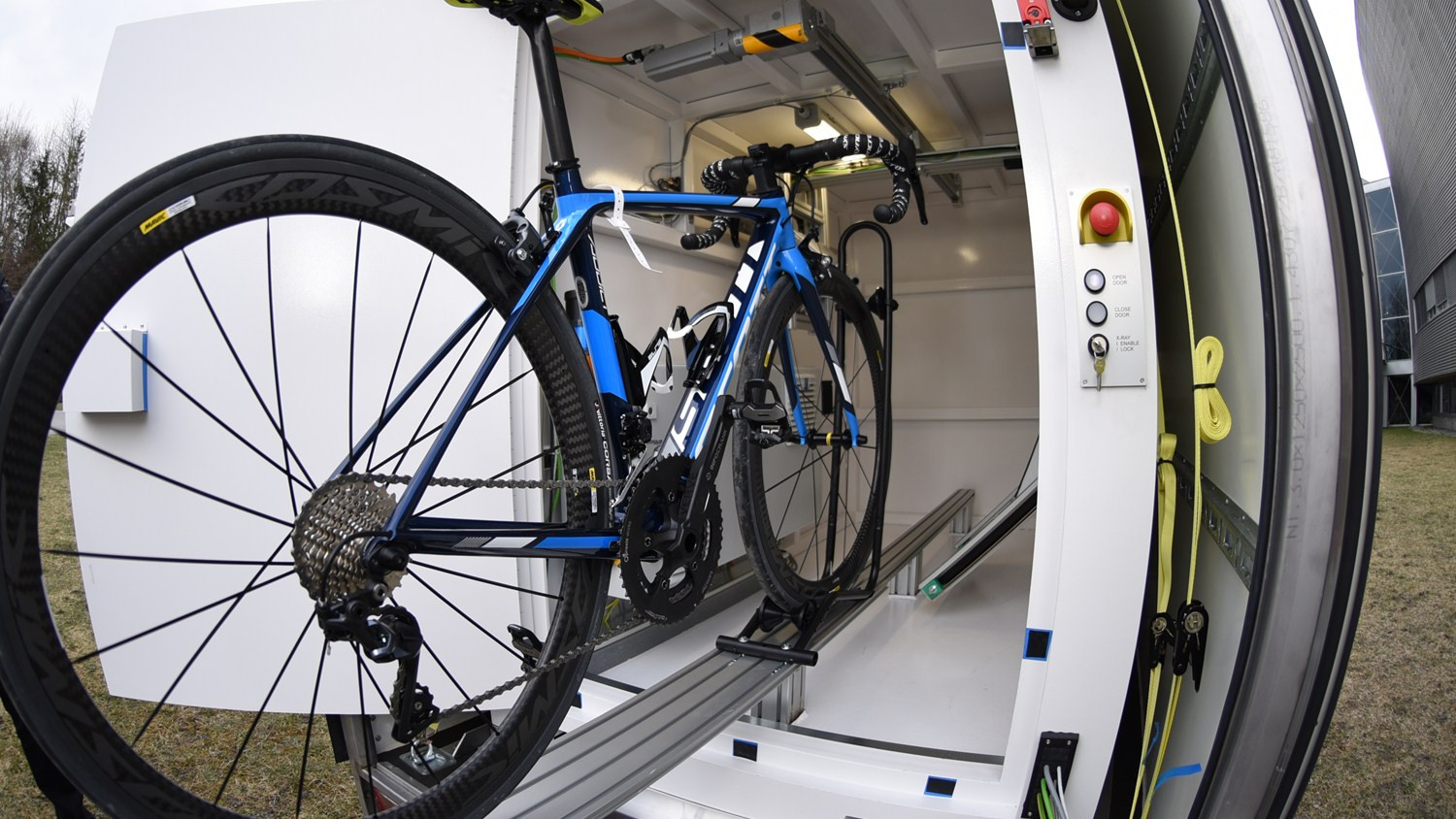 Mobile x-ray unit unveiled by UCI in bid to combat threat of technological fraud