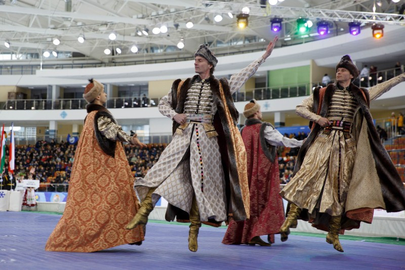 The Opening Ceremony displayed the culture of Belarus ©WUC Speed Skating
