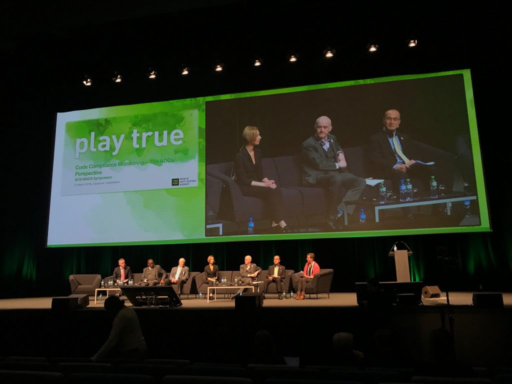 IWF legal counsel Eva Nyirfa was among the WADA Symposium speakers on the opening day ©IWF