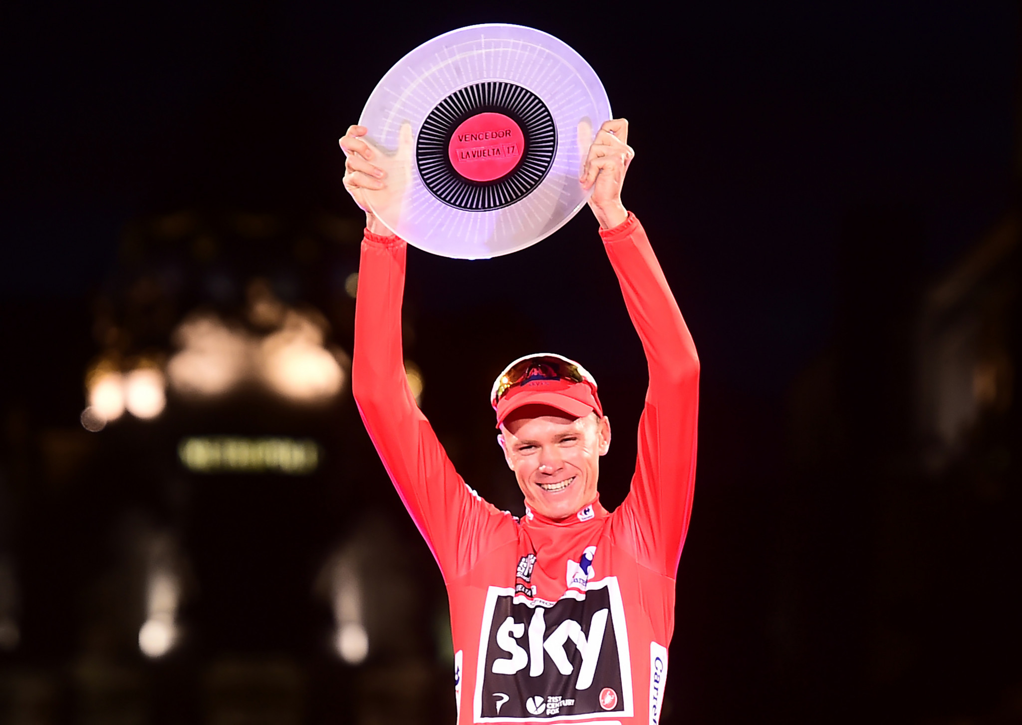 Chris Froome's win at the Vuelta has been tarnished by a failed drugs test, although he denies wrongdoing ©Getty Images