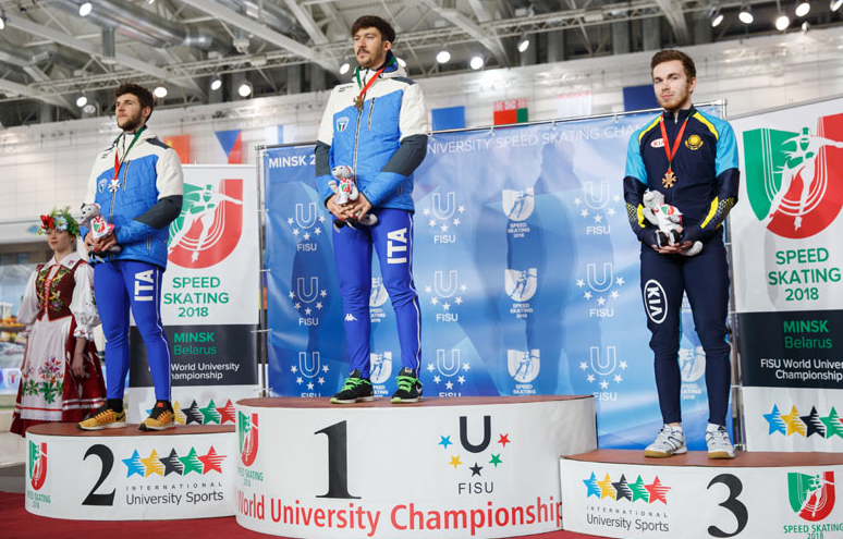 Italian Olympian among winners at University Speed Skating Championships
