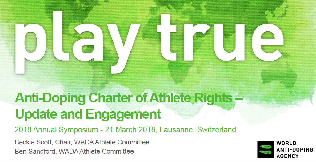 A draft WADA Charter of Athletes' Rights has been publicised ©WADA