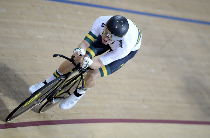 Australia's David Nicholas won the men's C3 individual pursuit on the opening day of the Rio 2018 Para Cycling Track World Championships ©Getty Images