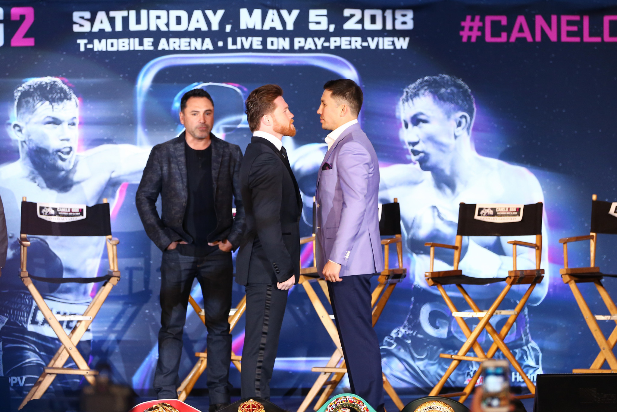 Gennady Golovkin, right, has described the positive test by Saul