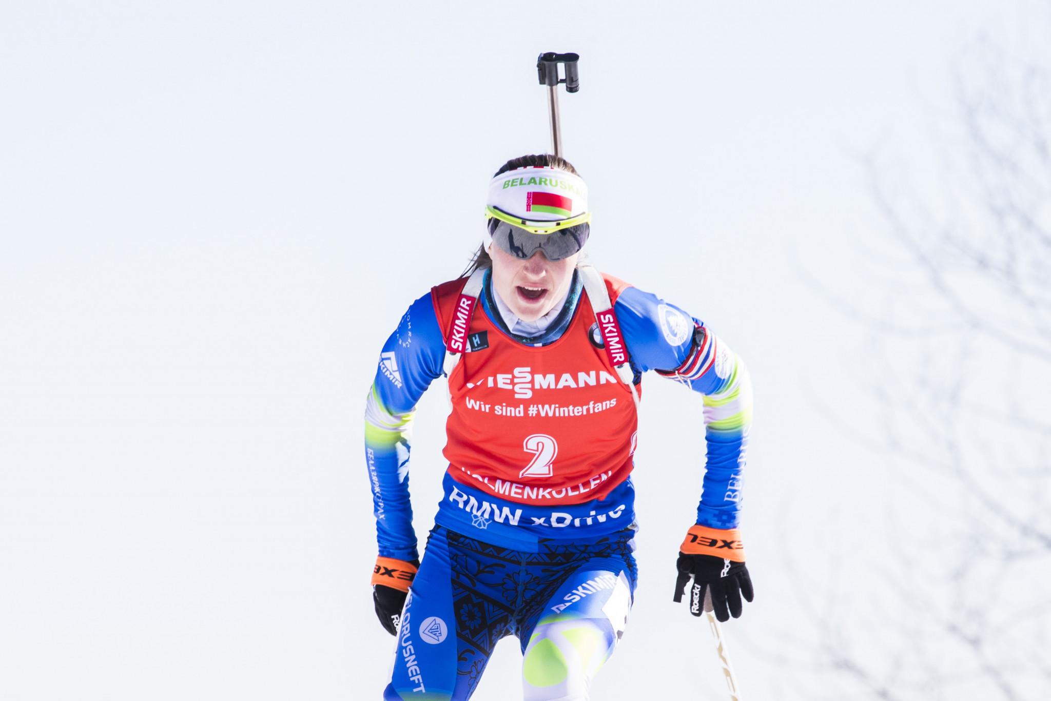 Domracheva wins at IBU World Cup Final as Kuzmina collects overall sprint crown