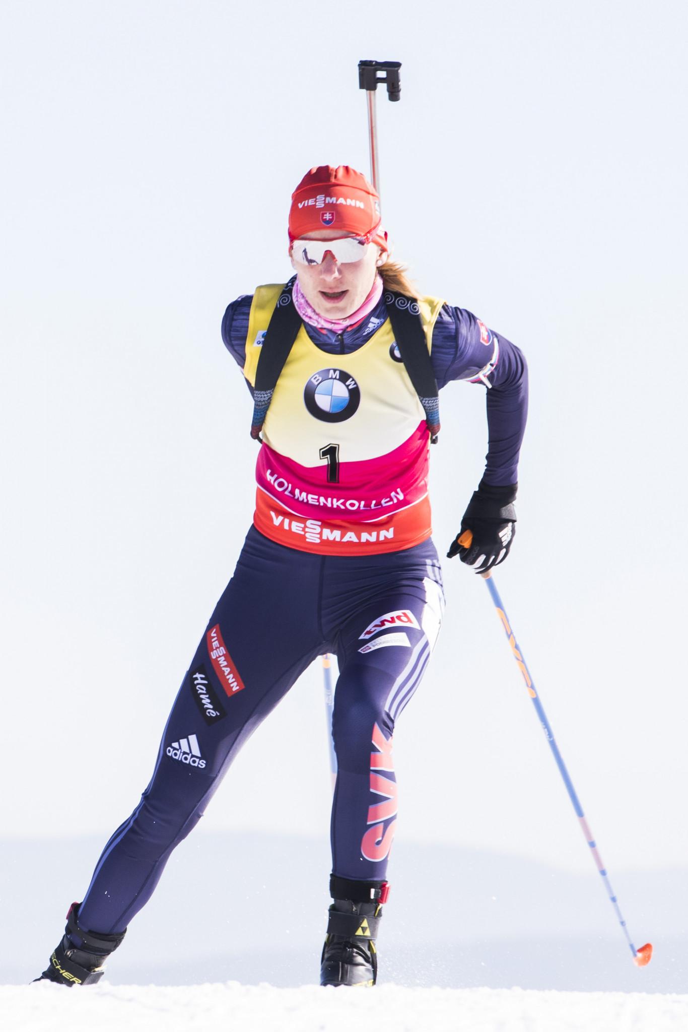 Anastasiya Kuzmina won the overall Sprint World Cup title ©Getty Images