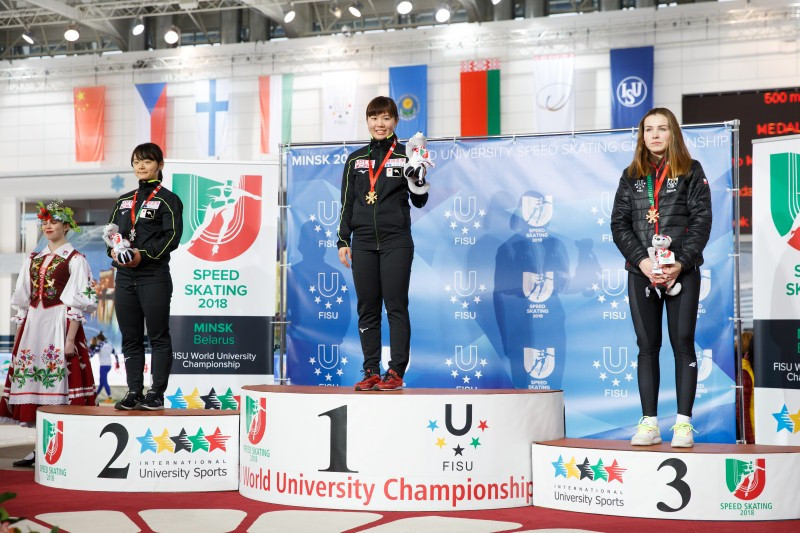Japan win both 500m golds at World University Speed Skating Championships