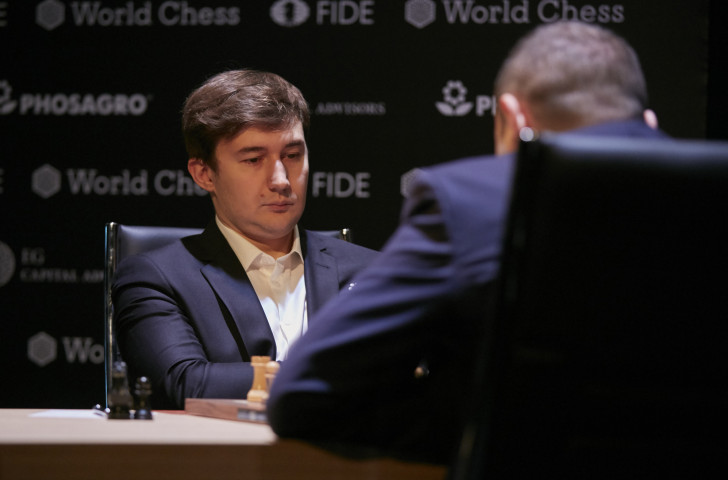 Russia's Sergey Karjakin, who lost the last world final in 2016 on tie-break games, made a slow start to the FIDE Candidates Trophy but has improved steadily and was the only winner today ©Getty Images