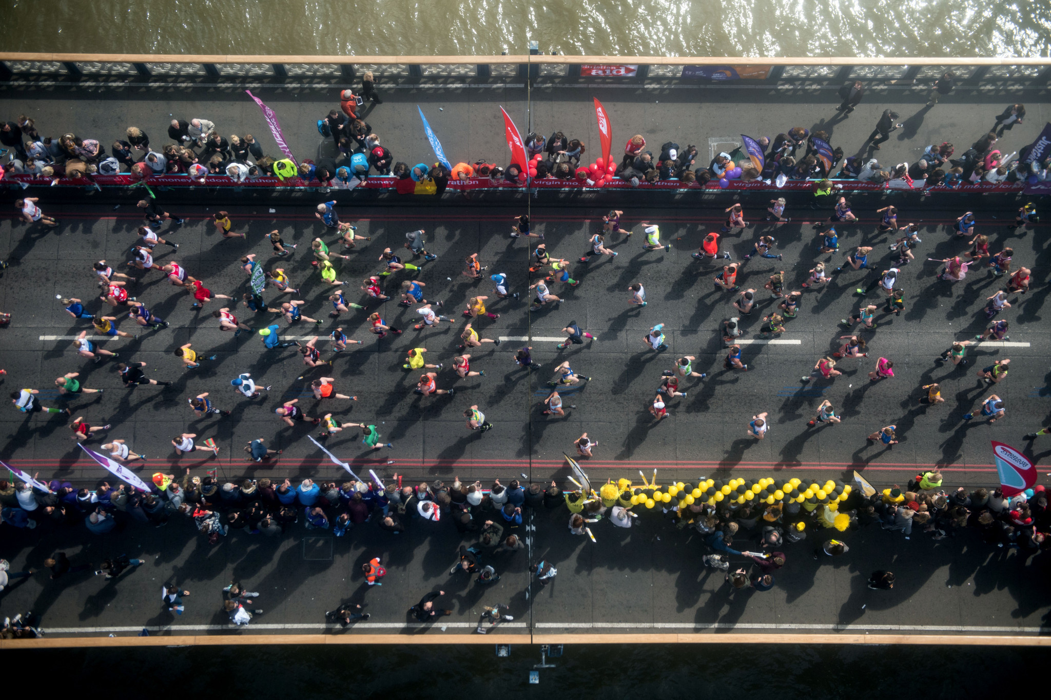Forty thousand runners are due to contest the London Marathon this year ©Getty Images