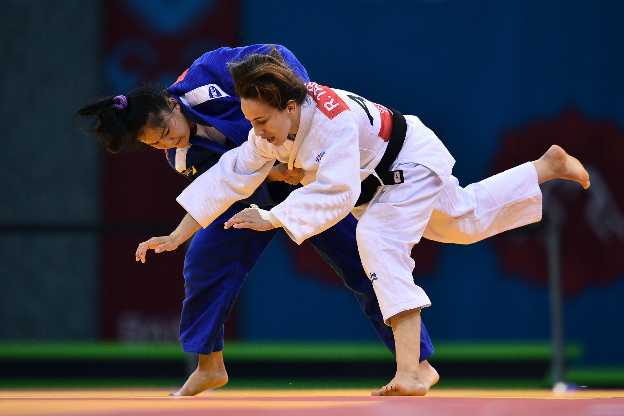 Judo action in Baku during the Islamic Solidarity Games ©Getty Images