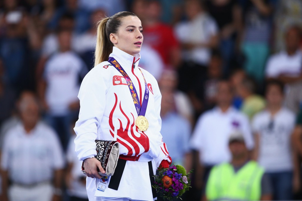 Serap Özçelik followed up her gold medal at June's European Games in Baku in perfect fashion